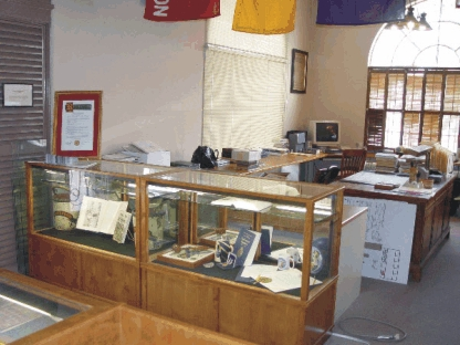 New work area and display cabinets