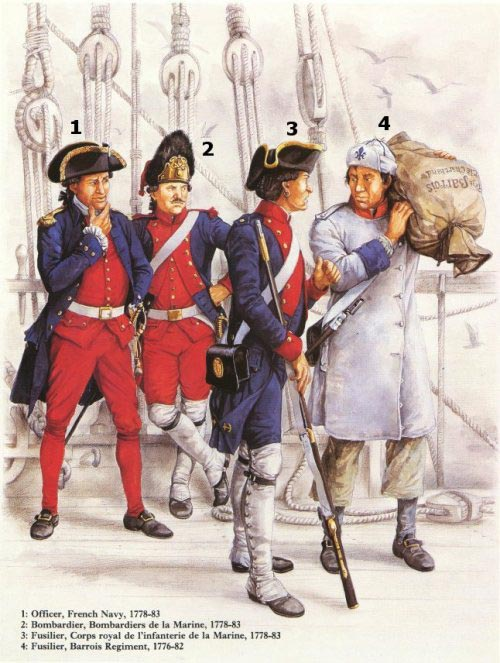 Officer, French Navy, 1778-1783