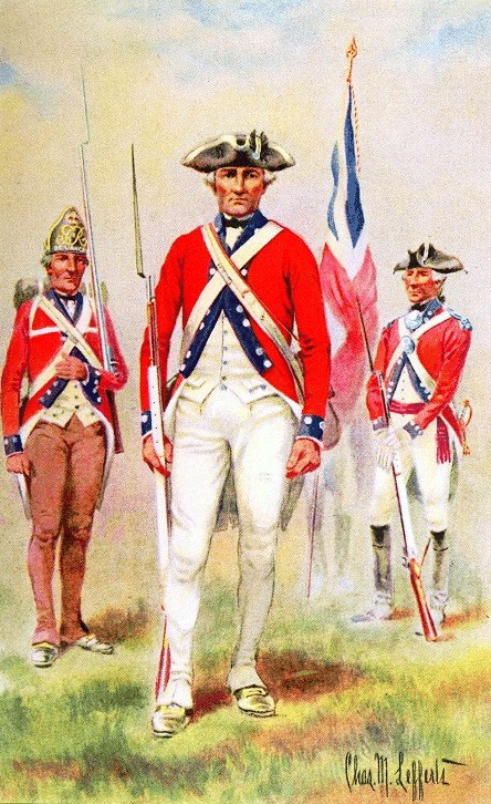 UNIFORMS OF THE AMERICAN REVOLUTION -- De Lanceys Brigade, 1776 - 1783